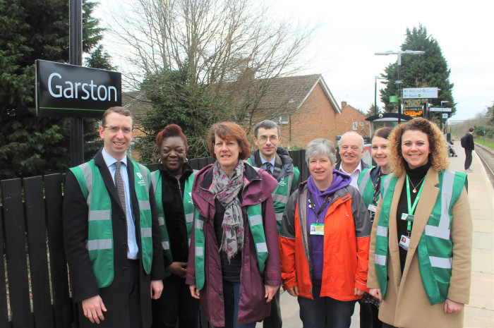 Mayor of Watford visits community rail project on the Abbey Line
