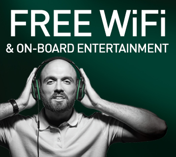 Free WiFi & on-board entertainment