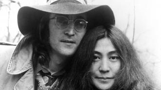 John Lennon and Yoko Ono pictured in 1973