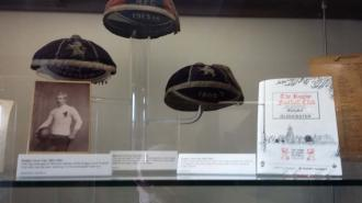 Exhibits at The Webb Ellis Rugby Football Museum