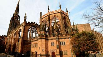 A general view of the Coventry Cathedral ruins
