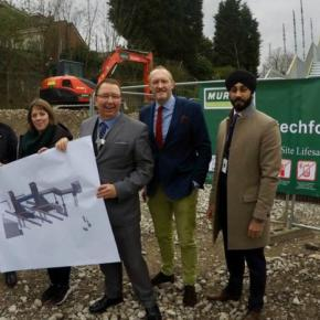 Michael Byrne (WMR)  Jess Phillips MP,  Francis Thomas (WMR), Steve Leyland (West Midlands Rail Executive) and Harpreet Singh Moore (Network Rail)